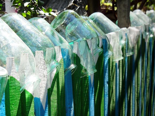 skleněný plot